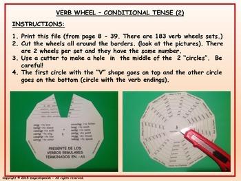 Conditional Tense (2). Verb Conjugation. Verb Wheels. PDF