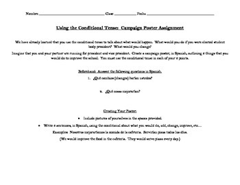 Conditional Tense Activity: Create a Campaign Poster