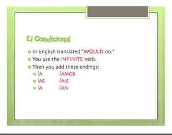Spanish Conditional Tense Notes