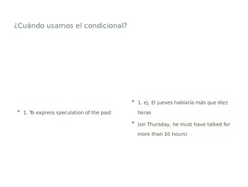 Conditional Tense PPT