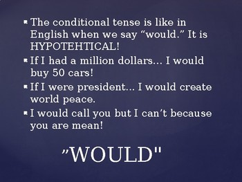 Conditional Tense PowerPoint