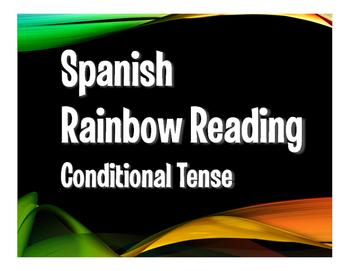 Spanish Conditional Tense Rainbow Reading