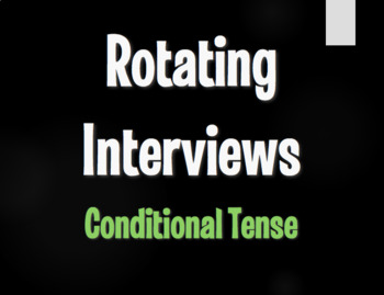 Spanish Conditional Tense Rotating Interviews