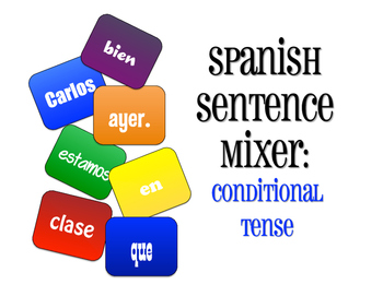 Spanish Conditional Tense Sentence Mixer