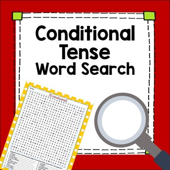 Conditional Tense Word Search Worksheet Fun Exercise
