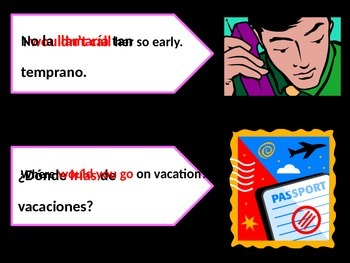 Conditional Tense explained in Spanish with Practice slides