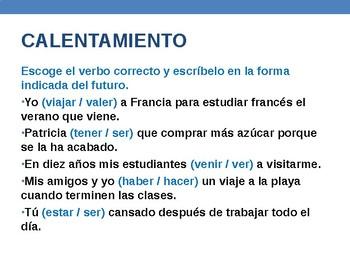 Conditional Tense in Spanish - Presentation & Activities