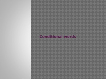 Conditional Words PowerPoint