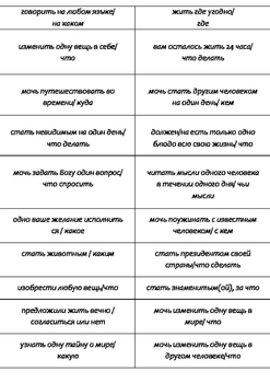 Conditional in Russian (Speaking activity cards)