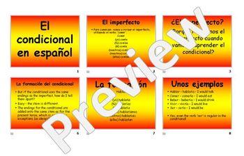 Conditional tense - Spanish