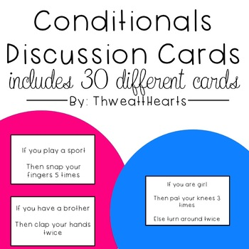Conditionals Programming Discussion Cards
