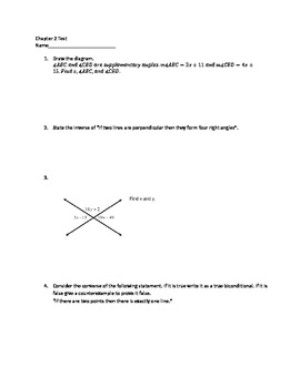 Geometry Conditionals Test