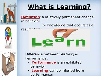 Conditioning and Learning Theory PowerPoint