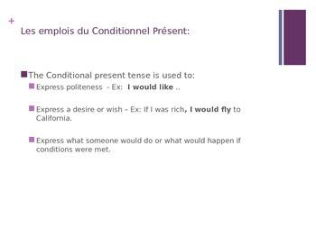 Conditionnel Present