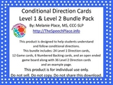 BUNDLE PACK: Conditional Directions Level 1 & 2