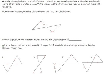 Conditions for Triangle Congruence Handout