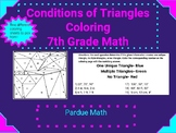 Conditions of a Triangle Coloring Page 7.G.A.2
