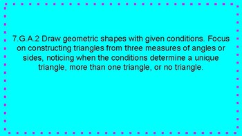 Conditions of a Triangle FULL LESSON! 7.G.A.2