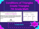 Conditions of a Triangle Quiz/Ticket Out the Door 7.G.A.2