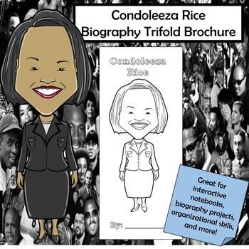 Condoleeza Rice Biography Trifold Brochure