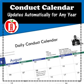 Conduct Calendar (Any Year)