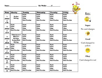 Conduct Calendar (Editable,Word Doc)