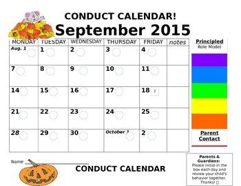 Conduct Calendars