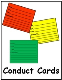 Conduct Behavior Cards for Classroom Management
