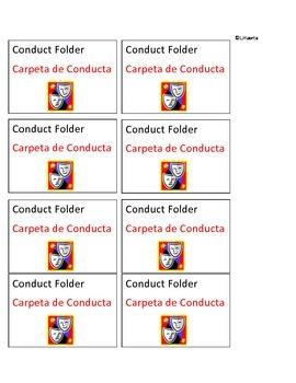 Conduct Folder Labels