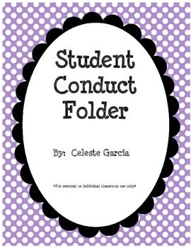 Conduct Folders Made Easy