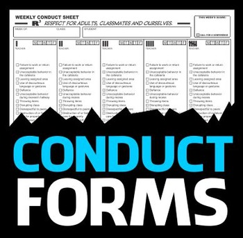 Conduct Record Forms - Classroom Management