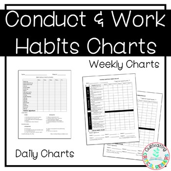 Conduct and Work Habits Parent Communication Form