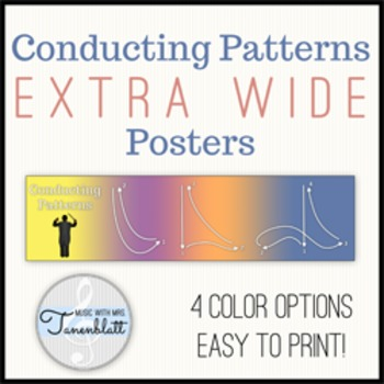 Conducting Patterns - E X T R A   W I D E Posters