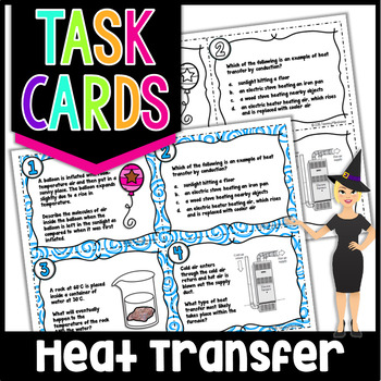 Conduction, Convection, Radiation - Task Cards