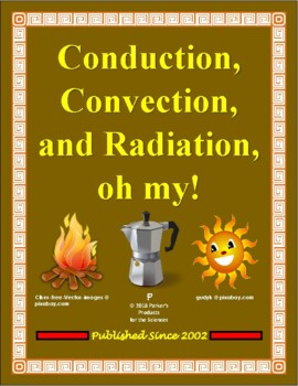 Conduction Convection And Radiation Study Guide Teaching Resources