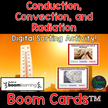 Conduction, Convection, and Radiation - Digital Boom Cards Sort