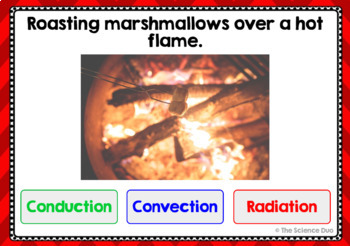 Conduction, Convection, and Radiation - Digital Boom Cards™ Sort
