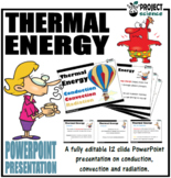 Conduction, Convection and Radiation PowerPoint and Activity Sheets
