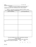 Conduction, Convection, and Radiation Rap Song Planning Sheet
