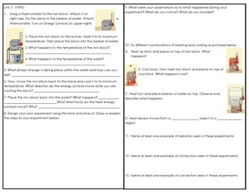 Conduction, Convection and Radiation: Webquest