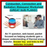 Conduction, Convection and Radiation Webquest (GREAT SUB PLANS!)