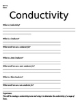 Conductivity worksheet