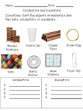 Conductor and Insulator Sort Quick Check
