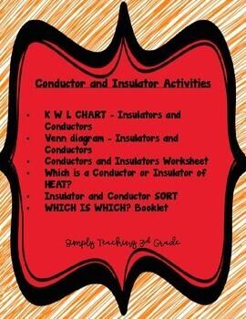 Conductors and Insulators Activities - NO PREP!