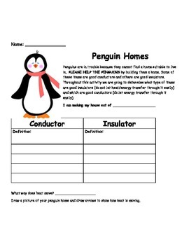 Conductor and Insulators- Build a Penguin Home