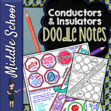 Conductors and Insulators Doodle Notes | Science Doodle Notes