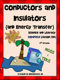 Conductors and Insulators & Energy Transfer:Complete Lesson Set Bundle NGSS TEKS