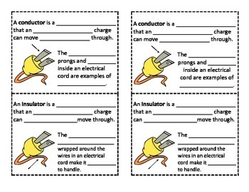 Conductors and Insulators Foldable