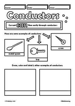 Conductors and Insulators Middle School Physics Doodle Notes