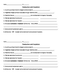 Conductors and Insulators Review Worksheet